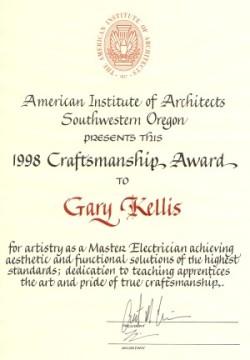 craftsman award
