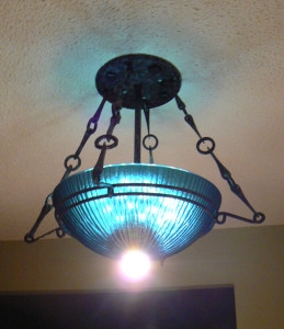 Blue Sink Chandelier